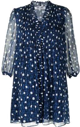 Diane von Furstenberg All-Over Dot Print Dress