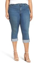 NYDJ Plus Size Women's 'Dayla' Wide Cuff Stretch Crop Boyfriend Jeans