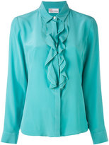 RED Valentino crepe de chine ruffled blouse - women - Silk - 40