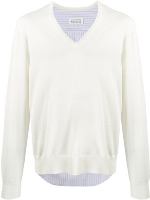 Maison Margiela hybrid shirt V-neck jumper