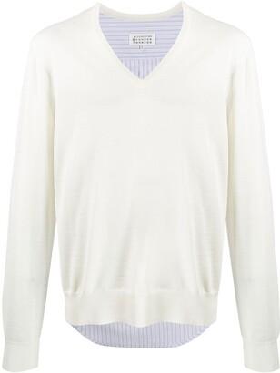 Maison Margiela hybrid shirt V-neck jumper