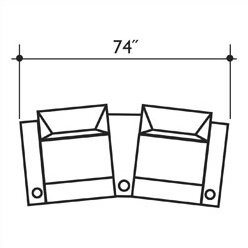 Bass St. Tropez Home Theater Row Seating (Row of 2 Type: Not Motorized, Frame Finish: Beech, Cupholders: No Cup Holders
