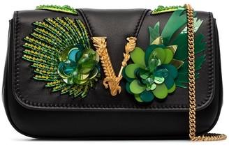 Versace Virtus plaque crossbody bag