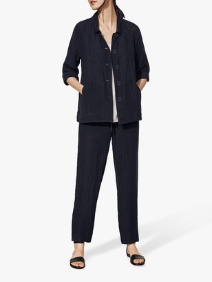 Eileen Fisher Organic Linen Jacket, Ink