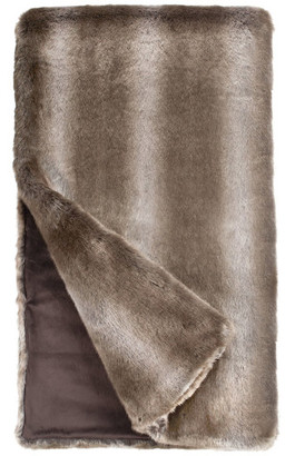 "Donna Salyers'' Fabulous-Furs Donna Salyers Fabulous Furs Couture Collection Faux Fur Throw, Timberwolf, 60"" x 86"""
