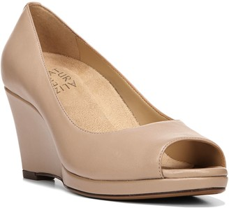Naturalizer Leather Wedge Heel Pumps - Olivia