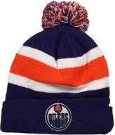 '47 Men's Edmonton Oilers Striped Cuff Knit Hat O/S