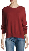 Vince Cashmere Uneven-Hem Sweater