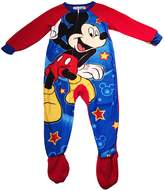 Disney Little Boys' Mickey Mouse Fleece Footed Sleeper Pajamas