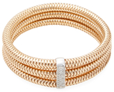 Roberto Coin Primavera 18K Rose Gold & 1.05 Total Ct. Diamond Triple Bangle Bracelet