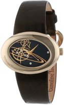 Vivienne Westwood Women's VV014GD Ellipse Swiss Quartz Gold Tone Bezel Watch
