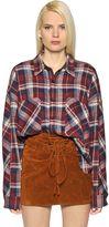 Faith Connexion Plaid Cotton Flannel Shirt
