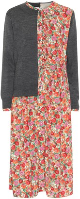 Junya Watanabe Layered cardigan and floral dress