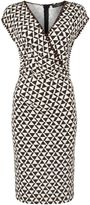 Max Mara Weekend ZITTO capsleeve v neck printed dress