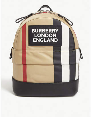 Burberry Nico Icon stripe nylon backpack