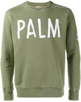 Palm Angels Palm print sweatshirt - men - Cotton - XL