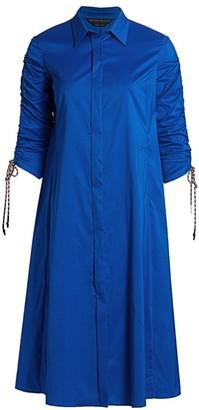 Marina Rinaldi, Plus Size Dondolo Poplin Midi Dress