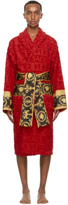 Versace Red Barocco Robe