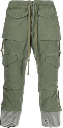Greg Lauren distressed cropped cargo pants