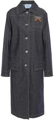 Prada Appliqued Denim Coat