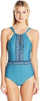 Jantzen Women's Wow Factor High Neck One Piece Swimsuit