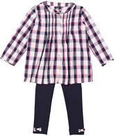 KensieGirl Pink & White Plaid Button-Up Top & Pants - Infant, Toddler & Girls