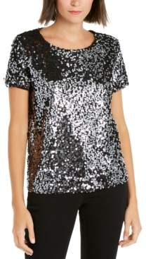 INC International Concepts Inc Sequined T-Shirt, Created for Macy's