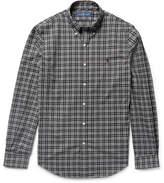 Polo Ralph Lauren Slim-fit Button-down Collar Checked Cotton-poplin Shirt - Black