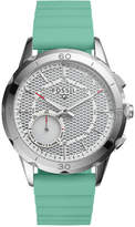 Fossil Q Women's Modern Pursuit Green Silicone Strap Hybrid Smart Watch 41mm FTW1134