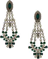 Mawi Silver Crystal Drop Chandelier Earrings