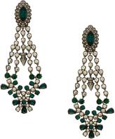 Mawi Silver Crystal Drop Chandelier Earrings