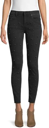 Driftwood Jacki Faux Pearl-Embellished Skinny Ankle Jeans
