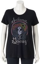 "Juniors' Plus ""Selena Gomez Kill Em With Kindness"" Graphic Tee"