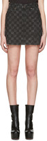 Marc Jacobs Grey Denim Checker Miniskirt