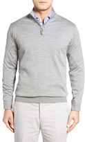 Peter Millar Men's Merino Wool Quarter Zip Sweater