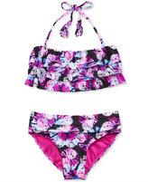 Roxy 2-Pc. Resort Retreat Ruffle Bikini, Girls (7-16)