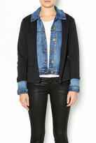 Tribal Denim Knit Jacket