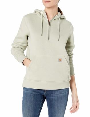 Carhartt Women's Regular Clarksburg Half Zip Hooded Sweatshirt