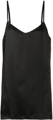 Marine Serre Logo-Print Slip Dress