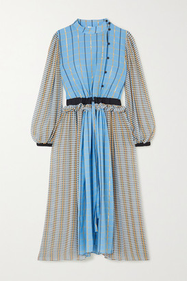 Stine Goya Felisa Ruffled Checked Cotton-blend Poplin Midi Dress