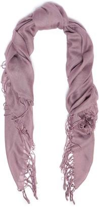 Brunello Cucinelli Fringe-trimmed Cashmere And Silk-blend Scarf