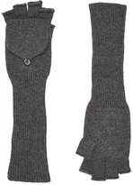 Barneys New York Women's Fingerless Gloves-GREY