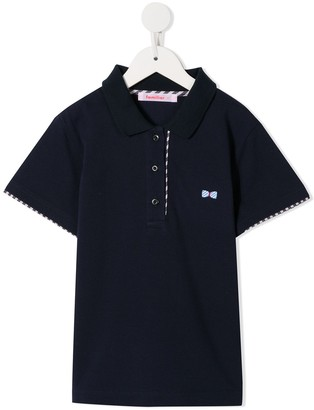 Familiar Embroidered Bow-Tie Polo Shirt