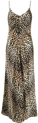 Ganni sleeveless leopard-print maxi dress