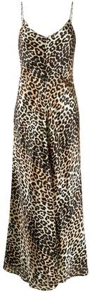 Ganni Sleeveless Leopard-Print Maxi Dress
