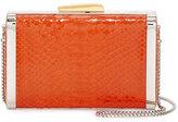 Hayward Framed Python Box Clutch Bag