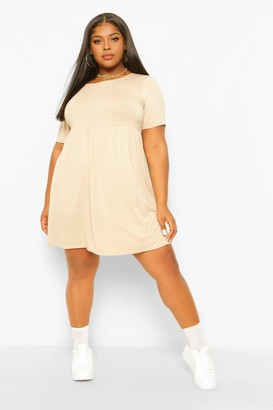 boohoo Plus Jersey T-Shirt Smock Dress