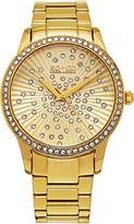 SO & CO New York Women's Quartz Watch with Gold Dial Analogue Display and Gold Stainless Steel Bracelet 5239.3