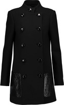 Michael Kors Leather-trimmed wool coat