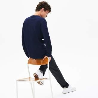 Lacoste Men's Crewneck Striped Cotton T-Shirt